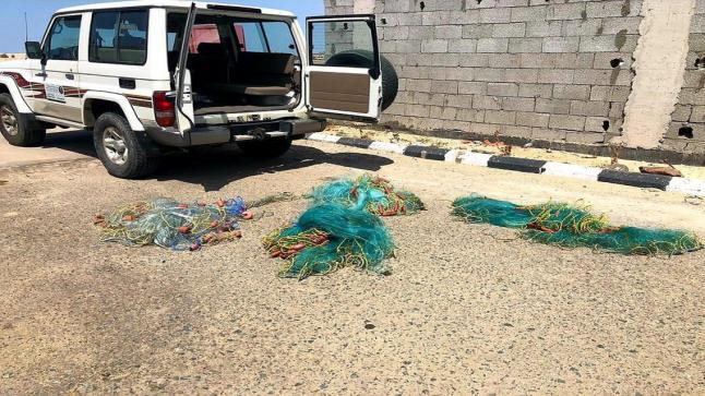 الثروة السمكية وحرس الحدود بمنطقة مكة تضبط مجموعة من المخالفين لأنظمة الصيد البحري