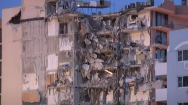 انهيار مبنى سكني بفلوريدا.. والحصيلة قتل و100 مصاب حتى الآن